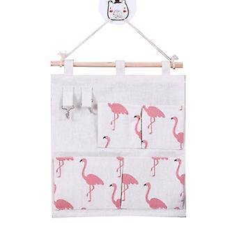 Hanging Bag Door Hanging Organizer Bedside 4 Pockets 2 Crochets Dormitory Sac de rangement