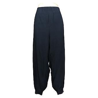 Nogen Kvinders Plus Pants Cozy Strik Cargo Jogger Lommer Blue A310051