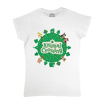 Animal Crossing Womens/Ladies Logo Fitted T-Shirt