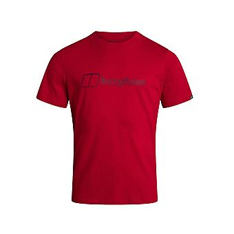 بيرغهاوس الحديثة شعار الرجال قصيرة الأكمام في الهواء الطلق تي شيرت تي الأحمر