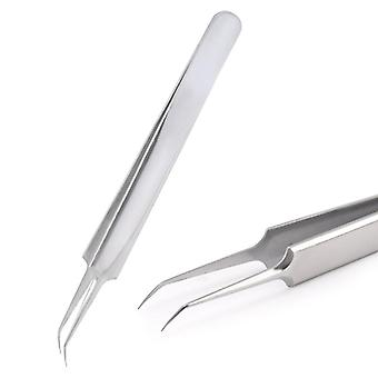 Steel Gold Blue For Eyelash Extension High-precision Eyelash Extension Tweezers