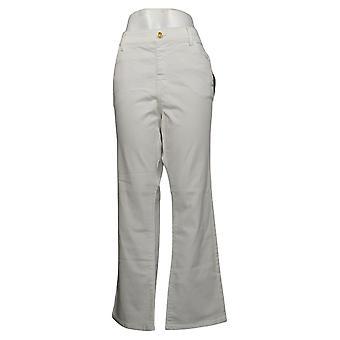 IMAN Global Chic Women's Plus Jeans Denim Pull-On Bootcut White 734928100