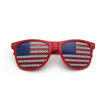 American Flag Pin Hole Glasses Eye Training Glasses Eyesight Improvement Anti Myopic Astigmatism Goggles