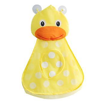 Yellow cartoon bathtub toy storage bag mesh bag bathing toy organizer holder bathroom organiser (duck) dt2900