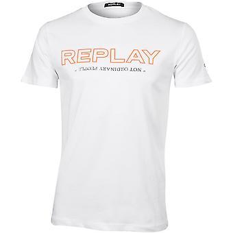 Rejouez le T-shirt du logo «Pas les gens ordinaires», blanc
