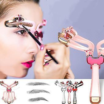 Adjustable Eyebrow Stencil Eyebrows Makeup Reusable Hand-held Eye Brow Shaper Template Eyebrow