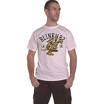 Blink 182 T Shirt College Mascot Band Logo new Official Mens White