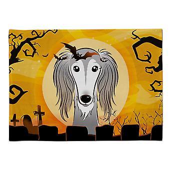 Caroline's Treasures BB1787PLMT Halloween Saluki Stoff Tischset, Multicolor