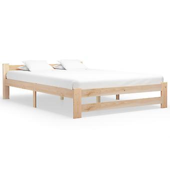 vidaXL السرير الإطار الخشب الصلب الصنوبر 160x200 سم