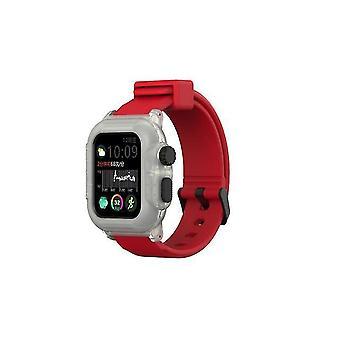 Siliconen band voor Apple Watch Series 4 40mm - Rood