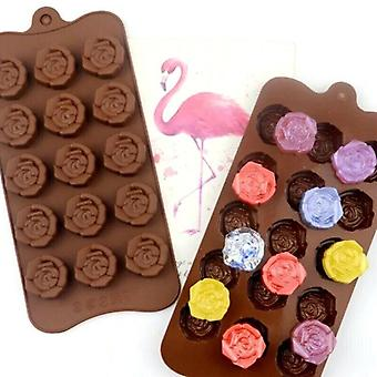 Silicone Flower Rose Mould Cake Decorating Baking Mold Candy Wax Chocolate Melts