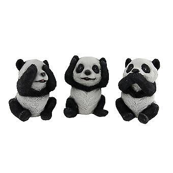 3 Stück siehe hören, sprechen kein Übel sitzen Baby-Panda-Bär-Set