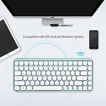 qwert Bluetooth-tastatur til iPad Tablet Xiaomi Macbook Mini iPad Tastatur Silent Wireless Keyboard