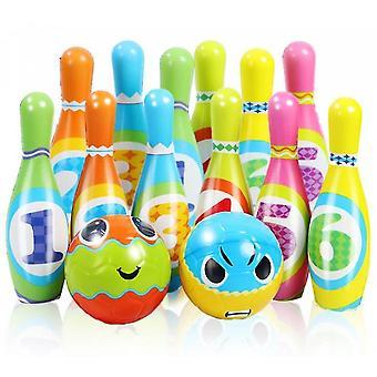 Bowling Spielzeug Spiel Set Ball Spielzeug Indoor Kindertag Geschenk (XXL)
