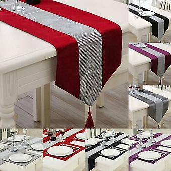 Christmas Party Table Runner Rectangle Tablecloth Dining Tea Home Decor 1pc