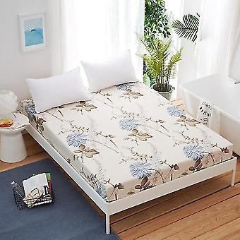Brushed Microfiber Queen King Size Bed Plaid Fitted Sheet With Elastic