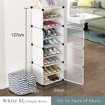 Multilayer Simple Shoe Rack Space Saving Shoes Boots Organizer Closet Diy Assembled Module Shoe Cabinet With Door Home Furniture