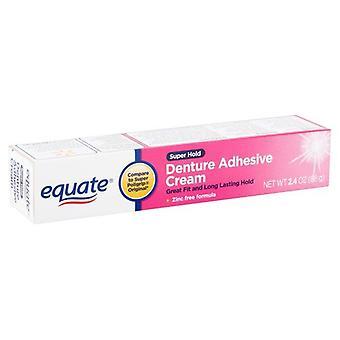 Equate Super Hold Denture Adhesive Cream, 2.4 oz