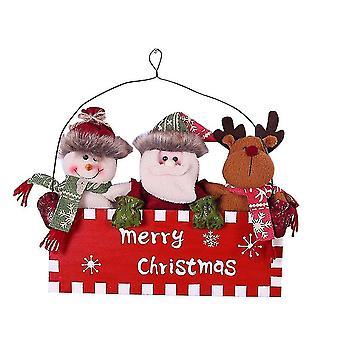 Christmas tree skirts homemiyn wooden door hanger christmas doll wooden door hanger 30cm*23.5Cm red
