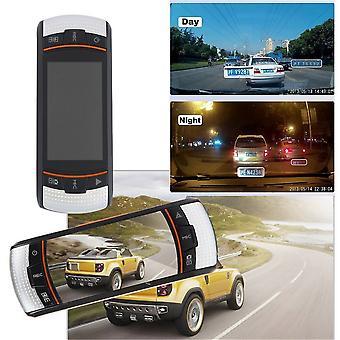 F90 2,7-palcový lcd tachograf Detekcia pohybu Duálny objektív fotoaparát vozidla