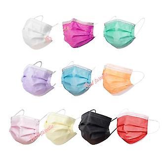 50 Stück Rosa Kind Einweg-Gesichtsmaske