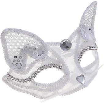 Biela polovica čipkovaná maska half face retro half face maska party dekorácia Halloween Karneval Maškaráda Party
