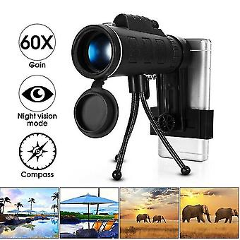 Portable 40x60 Zoom Optical Hd Lens Monocular Telescope Starscope Hiking Hunting