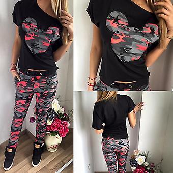 Dámske teplákové nohavice Tričko Sport Loungewear