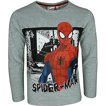 Marvel Spiderman Boys Long Sleeve Top / T-Shirt