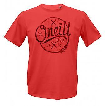 O ' Neill Single Jersey peinado algodón Nautica camiseta, rojo salmón