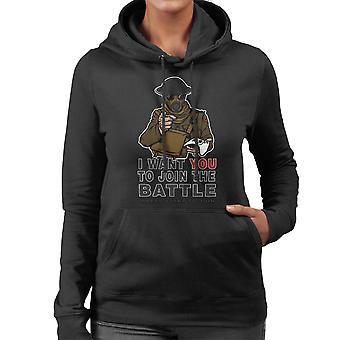 Join The Fight Women's Hooded Sweatshirt