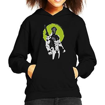 Overwatch Genji zöld Kid ' s kapucnis pulóver