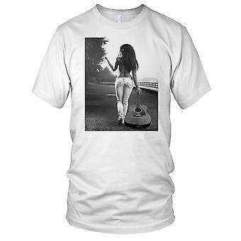 Sexy akustisk gitar jente damer T skjorte