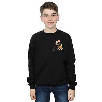 Janis Joplin Boys Floral Faux Pocket Sweatshirt