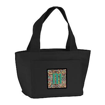Bogstavet M Retro Tribal alfabet første frokost taske