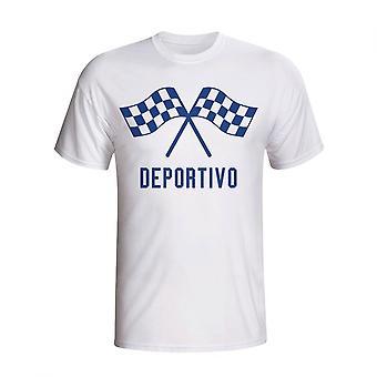 Deportivo acenando bandeiras t-shirt (branco)