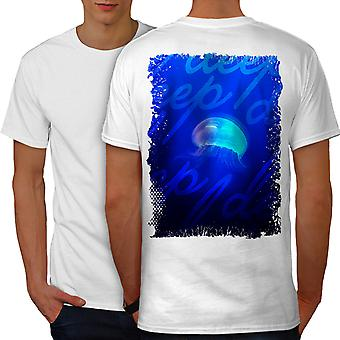 Fantasy havet Moon dyr menn WhiteT-skjorte tilbake | Wellcoda