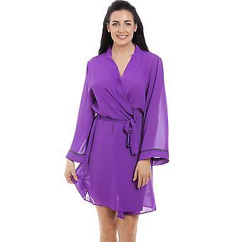 Camisa gasa púrpura Womens de Camille y conjunto de abrigo