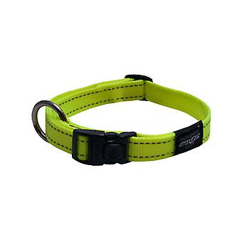 Rogz Utility Bright Reflective Durable Dog Collar, Yellow Glo