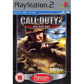 Call of Duty 2 Big Red One Platinum (PS2) - New Factory Forseglet