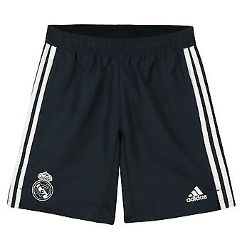2018-2019 real Madrid Adidas vevd Shorts (mørk grå) - barn
