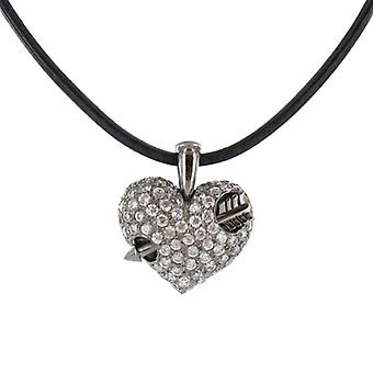 Heartbreaker by Drachenfels Ladies silver pendant necklace LD AT 52-B