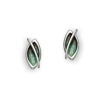 Sterling Silver Traditional Contemporary Modern Leah Design Pair of Earrings - EE200