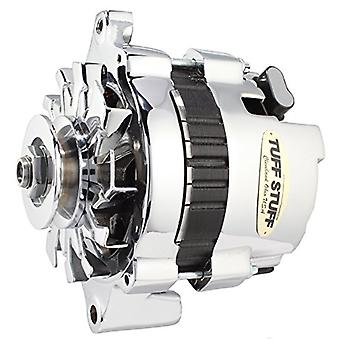 Tuff Stuff 7937A 80 Amp Chrome 1-Wire 1-Groove Pulley Mini Alternator for GM
