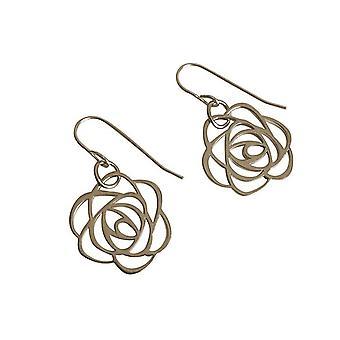 Gemshine Damen Ohrringe 925 Silber Blume Rose Art Deco 2 cm