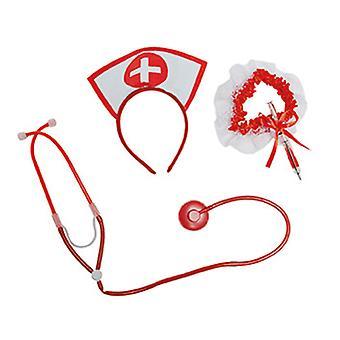 Verpleegkundige instellen 3pcs hoofdband stethoscoop Kousenband met pen injectie