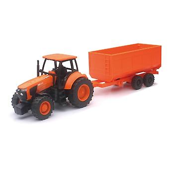 1:32 Kubota Farm Tractor And Trailer
