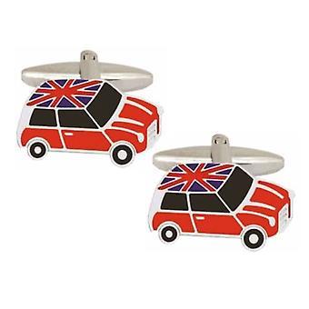 Boutons de manchette Zennor Mini Union Jack toit - rouge