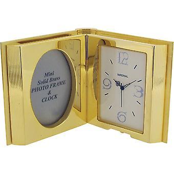 Lahja tuotteet avoin kirja miniatyyri kello - kulta