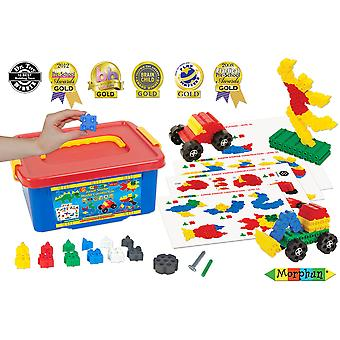 Morphun Educational Junior Building Bricks Set (400 Pce) Construction Learn